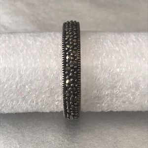 Simple band with marcasite stones